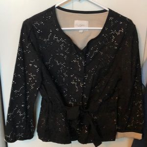 Beautiful Ann Taylor Loft black eyelet jacket